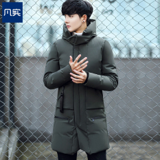 Winter Slim Fit Padded 3 4 Quilted Cotton Padded Jacket Dark Green Color Dark Green Color In Stock