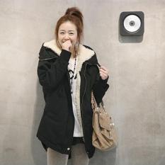 Deals For Winter Women S Fleece Parka Warm Coat Hoodie Overcoat Long Jacket Black Type 1