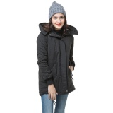 Coupon Winter Women S Fleece Parka Warm Coat Hoodie Overcoat Long Jacket Black Type 1 Intl