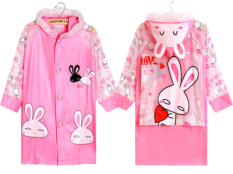 Sale Belt Backpack An Inflatable Brim Children Raincoat Pink Bunny Inflatable With Schoolbag Bit Pink Bunny Inflatable With Schoolbag Bit Oem Online