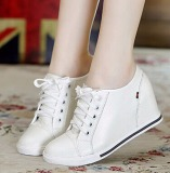 Buying Woman Fashion Hidden Wedge Heel Lace Up Casual Shoes Size 32 40