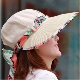 Cheapest Woman Hat Summer Uv Protection Big Brim Sun Hat Korean Women Beach Hats Beige Intl Online