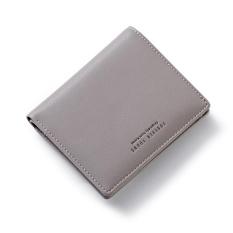 Cheaper Woman Short Wallet 2017 Card Multi Hasp Simple Wallet Purse Letters Grey Intl