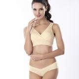 Woman Yoga Underwear Cotton No Rims Vest Crossover Nursing Bra Sleep Bra Pregnant Breast Feeding Bra Beige Intl Shopping