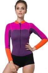 Women 2Mm Neoprene Rubber Wetsuits Swimsuit Lady Snorkeling Surf Windsurf Scuba Diving Suit Long Sleeve Purple Best Price
