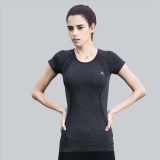 Women Athletic Fitness Sports Running T Shirt Quick Dry Workout Gym Yoga Jogging Tee Tops Short Sleeve Black Intl Shop