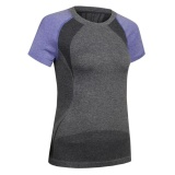 Where To Shop For Women Athletic Running Sports T Shirt Yoga Workout Fitness Gym Tops Tee Dry Fit Purple Intl