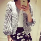 Who Sells Women Autumn Korean Version Of The Sweater Mohair Cardigan Light Gray Color