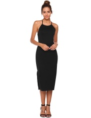 Buy Women Bandage Spaghetti Strap Bodycon Cocktail S*Xy Backless Slim Midi Dress New Sales Astar Intl Not Specified Cheap