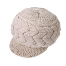 Women Beret Winter Warm Baggy Beanie Knit Crochet Hat Slouch Ski Cap - intl