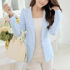Best Reviews Of Women Blazers Jackets Suit Shrugged Coat Slim Ol Business Formal Female Ladies Office Outwear Single Breasted Intl