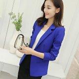 Cheaper Women Blazers Jackets Suit Spring Autumn Single Button Female Ladies Blazer Dark Blue Intl