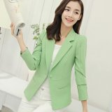 Compare Women Blazers Jackets Suit Spring Autumn Single Button Female Ladies Blazer Green Intl Prices