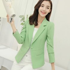 Women Blazers Jackets Suit Spring Autumn Single Button Female Ladies Blazer Green Intl Lower Price