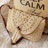 Compare Prices For Women Casual Mori G*Rl Crochet Straw Holiday Beach Bag Cross Body Bag Lx0037 Intl