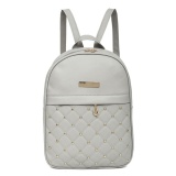 Get The Best Price For Women Chic Gorgeous Pu Leather Backpack Grey Intl