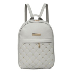 The Cheapest Women Chic Gorgeous Pu Leather Backpack Grey Intl Online