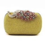 Low Cost Women Clutch Purse Bag Cocktail Wedding Evening Party Chain Handbag Gold Intl