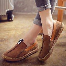 bba420f5da7 Women Comfortable Hemp Bottom Frisherman Shoes Slip On Zapato Mujer loafer  Round Toe espadrilles Flats Shoes - intl