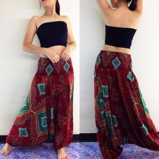 Compare Price Women Comfy Yoga Beach Boho Gypsy Hippie Women Harem Pants Trousers Red Intl Oem On China