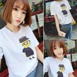 Buy Women Cute Print White T Shirt Top Tee Blouse Intl Cheap China