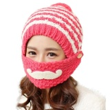 Get The Best Price For Women Cute Winter Beard Hat Knit Warm Cap Beanies With Mouth Mask Wr Intl