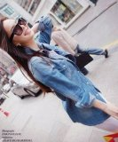 Get The Best Price For Women Denim Jackets Casual Ladies Long Sleeve Denim Shirt Intl