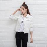 Sale Women Denim Jackets Long Sleeve Short Jeans Jacket Woman Denim Coat White Intl On China