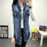 Price Women Denim Vest Female Long Waistcoat Sleeveless Long Jacket Student Coat Cowboy Coat Wraps College Palliate Wind Coats Fashional Outer Wear Intl China