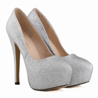 Women Fashion 14 Cm High Heel Pumps 35-42(Silver)
