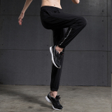 Vansydical Women Fashion Casual Ankle Tied Pants Quickly Dry Breathable Running Fitness Slacks Black Reflective Stripe Promo Code