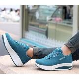 Review Women Fashion Sneaker Ups High Platform Walking Sports Shoes G*rl Outdoor Shoes Blue Intl Oem