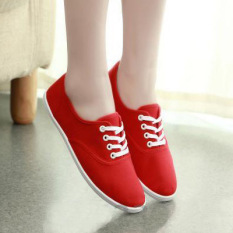 Sales Price Women S Sport Canvas Flat Shoes Red Red