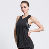 Retail Women Gym Sports T Shirt Yoga Workout Vest Fitness Training Exercise Running Clothing Sportswear Tee Tank Tops Singlets Clothes Black Intl