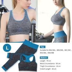 Women Gym Suits Yoga Bra Leggings Fitness Sports Wear (blue L) - Intl By Highfly.
