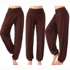 Promo Women Harem Yoga Pant Bloomers Belly Dance Comfy Loose Wide Trousers