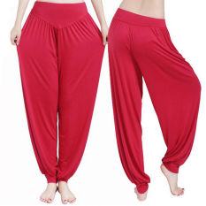 Compare Women Harem Yoga Pant Bloomers Belly Dance Comfy Loose Wide Trousers