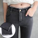 Sale Women High Waist Jeans Night Feet Pant Ladies Split Jean Intl Oem Original