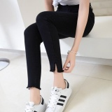 Best Price Women High Waist Jeans Night Feet Pant Ladies Split Jean Intl