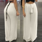 Buy Women High Waist Palazzo Pants Wide Leg Loose Chiffon Long Pants Trousers Intl China