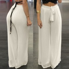 Women High Waist Palazzo Pants Wide Leg Loose Chiffon Long Pants Trousers Intl Free Shipping