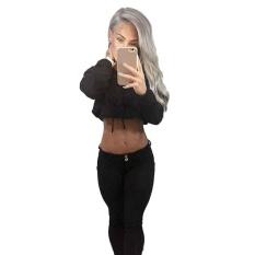 Women Hoodie Sweatshirt Jumper Sweater Crop Top Coat Sports Pullover Tops Intl Review