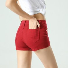 Top Rated Women Ladies Candy Color Shorts Summer Denim Short Pant Jeans Intl