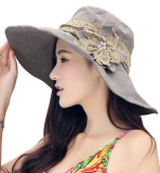 Top 10 Women Ladies Casual Outdoor Sunblock Folding Wide Brim Anti Uv Beach Sun Hat Cap Grey