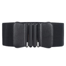 74aff84b4 China. Women Ladies Fashion Metal Interlocking Buckle Adjustable Belts  Elastic Cinch Waist Belt Strap for Women Black