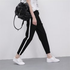 Review Women Ladies Harem Pants Cropped Sport Casual Black Pant Trousers Intl On China