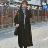 Cheap Women Ladies Korean Winter Jacket Coat Plus Size Long Outwear Woollen Coats Black Intl