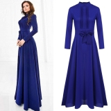 Cheapest Women Ladies Long Sleeve Chiffon Maxi Long Evening Party Elegant Dress Intl Online