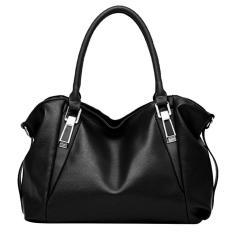 Women Ladies Pu Leather Large Capacity Elegant Fashion Dual Use Shoulder Bag Handbag Hand Bag Tote Bag Black Intl Free Shipping