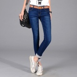 Promo Women Ladies Slim Jeans Pencil Pant Korean Elastic Jean Intl